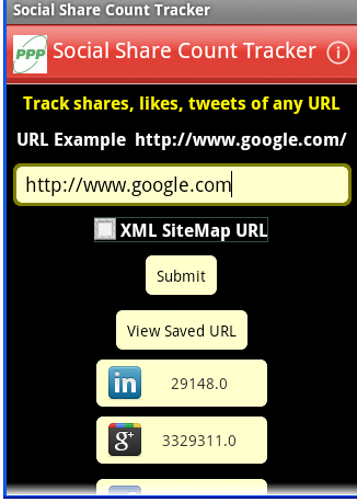 Social Shared Count of any website