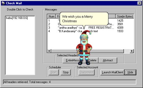 MailAssistant (Christmas Edition) - Santa reads emails and sings a christmas song